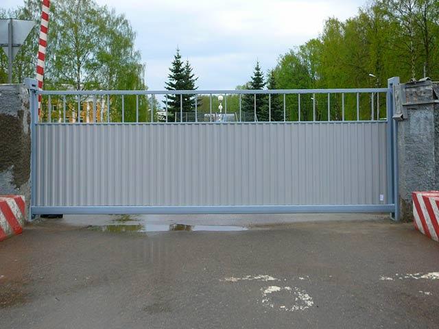 Установить откатные ворота в пскове тележка для ворот и талей тор ра